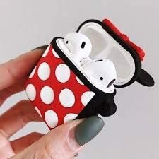 Carcasa de silicona para Airpods 1 y 2 dise/ño de Minnie Mouse Hales UK