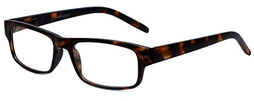 M Readers Designer Reading Glasses 100-MDEMI-200 in Matte Tortoise -