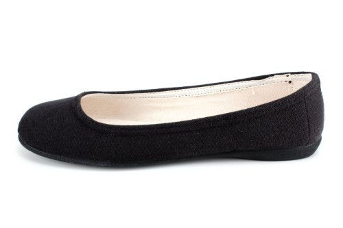 Black 3 to 5 Ballet flats 45 amp;Large sizes to no Small Andres bow AM527 UK EU Medium 5 with Machado Canvas 10 36 7qwnaC61