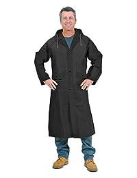 "Galeton 11907-XXL-BK 11907 Repel Rainwear .22 mm EVA 48"" Ultra-Lightweight Raincoat, 2XL, Black"
