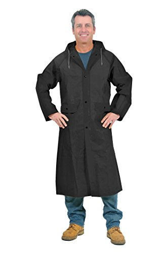 Galeton 11907-L-BK 11907 Repel Rainwear .22 mm Eva 48' Ultra-Lightweight Raincoat, black, Large
