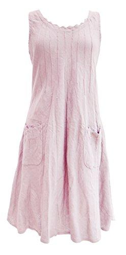 Linen Pintuck Dress - 6