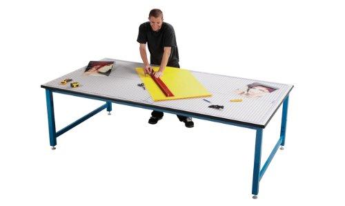 Iron Man Table 5x8 Steel Base Adjustable Legs Wood Top And Self