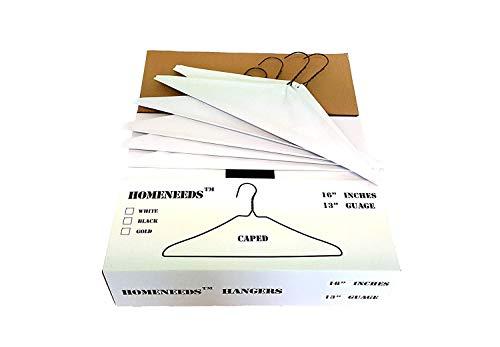 Homeneeds' Clothing Hangers, Suit Hangers, Caped Hangers, Strut Hangers, Wire Clothes Hangers (Caped100) ()