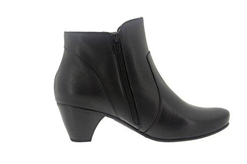 Calzado mujer confort de piel Piesanto 7877 botín casual cómodo ancho Negro