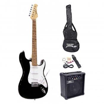 PylePro Beginner Electric Guitar Package Black