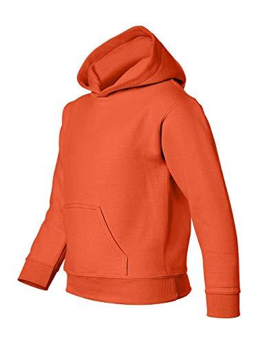 Heavy Blend Youth Hooded Sweatshirt, Color: Orange, Size: Small (Boys Sweatshirt Orange)