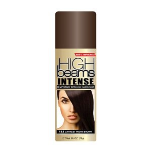 High Beams Intense Temporary Spray-On Hair Color - Darkest Warm Brown 2.7 oz (3 PACK)