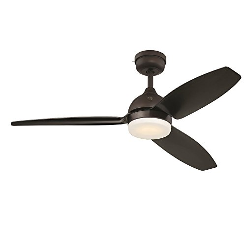 "GE Morgan 54"" Bronze LED Indoor/Outdoor Ceiling Fan with SkyPlug Technology for Instant Plug and Play Mounting"