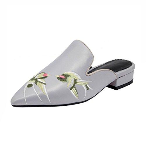 Y2Y Studio Women's Clogs & Mules Grey Size: 2 UK fZxGM7
