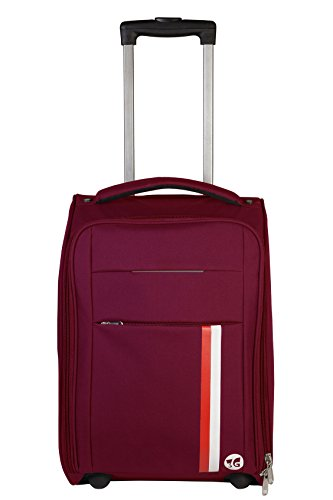 3G Maroon Suitcase Polyster Soft Sided Travel Bag 20 inch