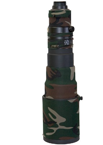 LensCoat Lens Cover for Nikon 500mmVR - camouflage neoprene camera lens protection (Forest Green Camo) lenscoat