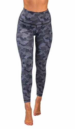90 Degree By Reflex Performance Activewear - Printed Yoga Leggings - Quicksilver Camo - XS