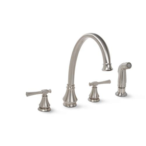 Premier 120118lf Torino Kitchen Faucet With Two Handles And Side Spray Brushed Nickel