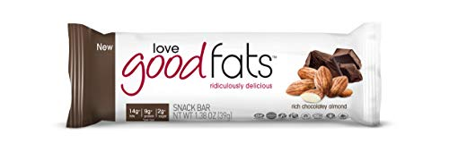 Cheap Love Good Fats Bars (Keto Bar, Keto Snacks for Keto Diet, Low Carb Snacks for Low Carb Diet, Low Net Carbs, Gluten Free, Non-GMO) – 12 bars x 39g each, Rich Chocolatey Almond