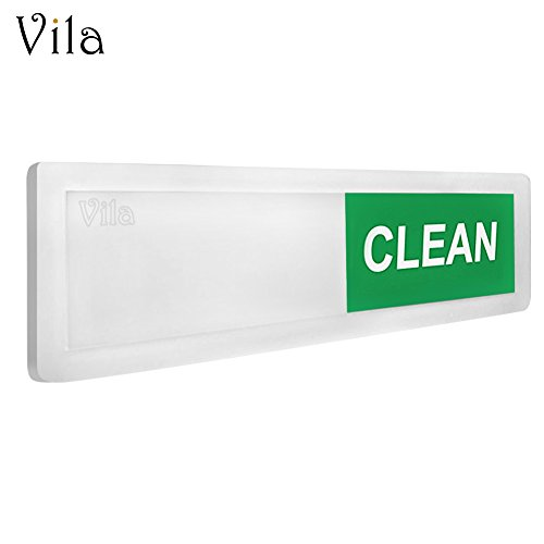 Price comparison product image CLEAN / DIRTY Dishwasher Magnet --- Easy to Read Acrylic Indicator - Smooth Glide - 3M Adhesive for extra strength - Low Profile Design - Sticks to any Surface - Scratch proof - For Home & Office use