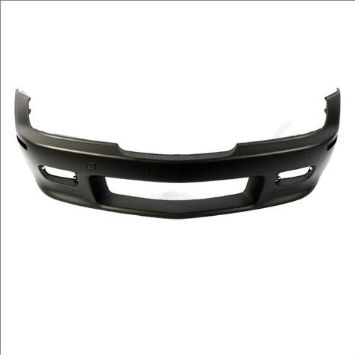 CarPartsDepot, 2.5L 3.0L 6-Cyl Front Bumper Primed Black Plastic w/o M-Roadster, 352-122089-10-PM BM1000125 (01 Bmw Z3 Roadster)