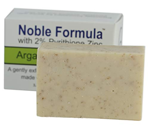 Noble Formula 2 Pyrithione Zinc ZnP Argan Oil Bar Soap, 3 Bars in 1 Box , Total 9 oz