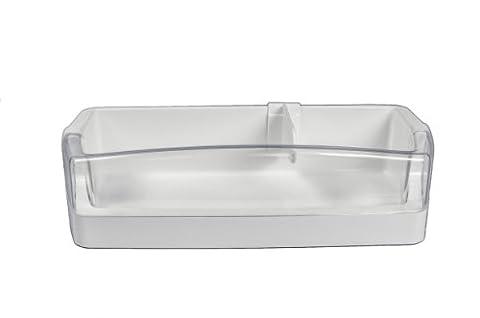 LG Electronics 5005JA1020A Refrigerator Door Shelf Bin, White with Clear Trim