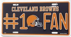 Cleveland Browns Number One Fan License Plate