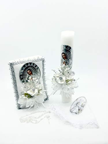 Casa Ixta First Communion Candle Lady of Guadalupe Image by Casa Ixta (Image #2)