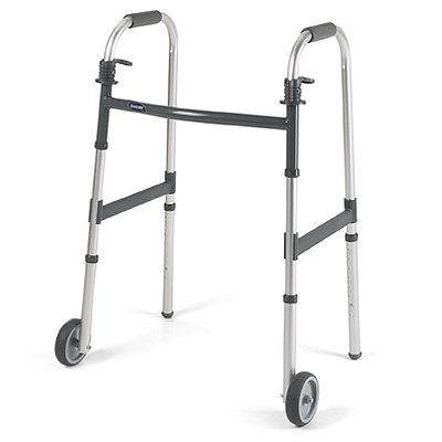 Invacare Dual Release Walker with 5'' Fixed Wheels Dual Release Walker with 5'' Fixed Wheels