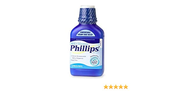 Amazon.com : Phillips Phillips Milk of Magnesia, Original 12 fl oz (Quantity of 5) by Philips : Magnesium Mineral Supplements : Beauty