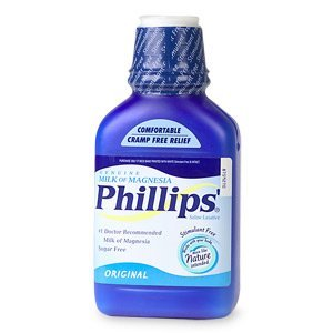 Phillips Phillips Milk of Magnesia, Original 12 fl oz (Quantity of 5) by