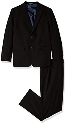 Nautica Big Boys' Two Piece Suit Set with Hemmed Pants, Black, 18 by Nautica