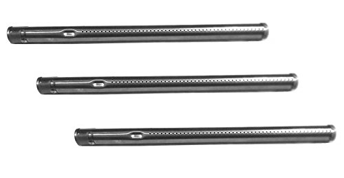 Hongso SBE691 (3-pack) Stainless Steel Burner Replacement for Select Fiesta Gas Grill Models (15.75