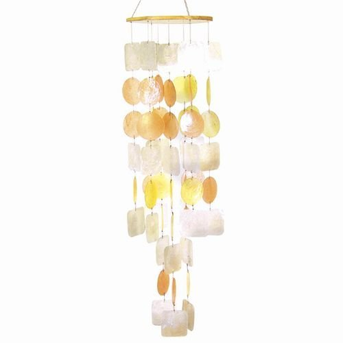 Decor Set Capiz Shell - Beautiful Sunset Capiz Shell Wind Chime 26
