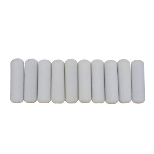 Shur-Line 2006698 4-Inch Mini Paint Roller Cover Refills with Foam-Covered Ends, Pack of 10