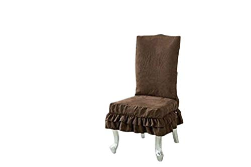 (Octorose  Soft Micro Suede Shortly Dining Chair Covers (Brown))