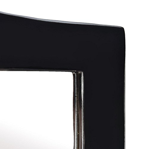 Full length black dressing mirror swivel wood cheval floor for Black framed floor length mirror