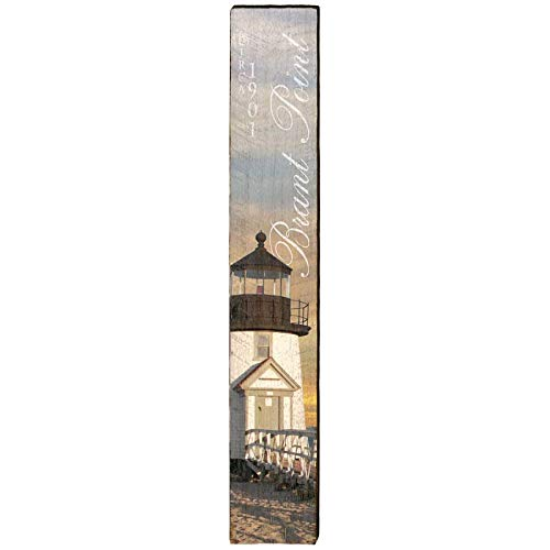 - Brant Point Lighthouse Home Decor Art Print on Real Wood (9.5