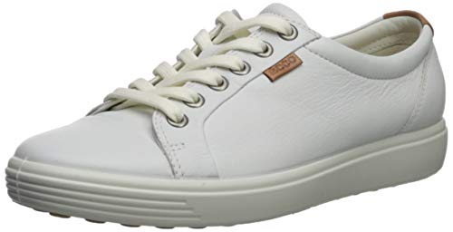 Ecco   Womens Soft VII Fashion Sneaker, White, 39 EU/8-8.5 M US ()
