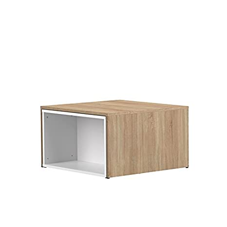 Wood & Colors Symbiosis 2066 A0300 X 00 contemporáneo Mesa Baja modulable Blanco/Roble Natural