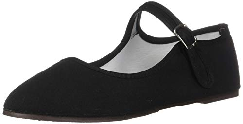 (Shoes 18 Womens Cotton China Doll Mary Jane Shoes Ballerina Ballet Flats Shoes 11 Colors (8, 114 Black Canvas))