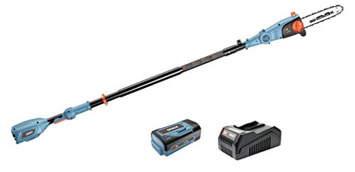 SENIX A01400145 CSPX5-M 10 Inch 58V Cordless Pole Saw to Reach Branches up to 14 Feet Above, Blue