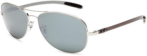 fa44f536e95 Ray-Ban RB8301 Sunglasses Gunmetal   Crystal Polarized Gray Mir Silver Gr  59mm