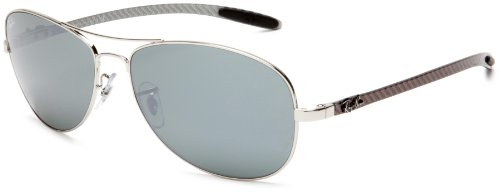 Ray-Ban RB 8301 Sunglasses Styles - Gunmetal Frame, Polar Cry. Gray Mirror Silver Grad. 59 mm