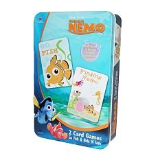 Finding Nemo 2 Card Games (Go Fish & Hide 'N Seek) in Tin Go Fish Tin