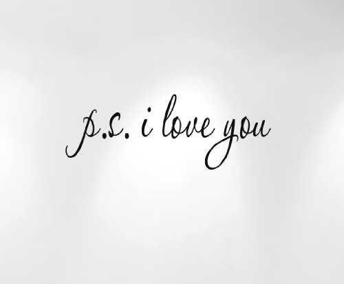 ps i love you decal - 2