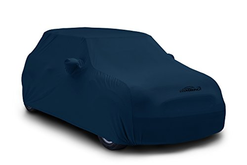Coverking Custom Fit Car Cover for Select Ford Mustang Models - Satin Stretch (Dark Blue) ()