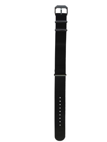 Black Nylon Strap, Black Buckle