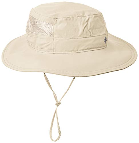Columbia Unisex Bora Bora II Booney Hat, Moisture Wicking Fabric, UV Sun Protection, Fossil, One -