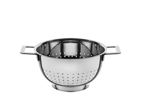 A Di Alessi,AJM300 ''POTS & PANS'', Colander in 18/10 stainless steel mirror polished,8.75 Inch by Alessi