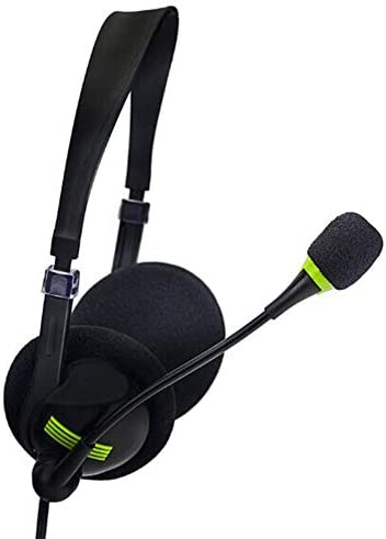Alician ヘッドフォンイヤホンゲーム用ヘッドセット3.5mmポータブルヘッドフォン(PC用) パッケージ付きブラック