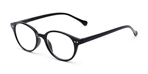 Readers.com | The Cocoa +1.50 Black Round Stylish Men's & Women's Full Frame