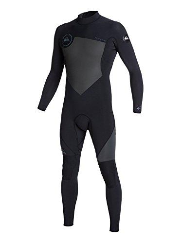 Quiksilver Mens Syncro Flatlock 3/2Mm - Back Zip Wetsuit Wetsuit Black - Lt Wetsuit